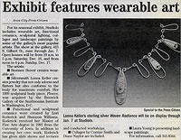 """Wearable Treasures"" article"